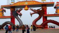 Wisata Kenpark Surabaya Dengan Bangunan Mirip Temple Of Heaven Di China